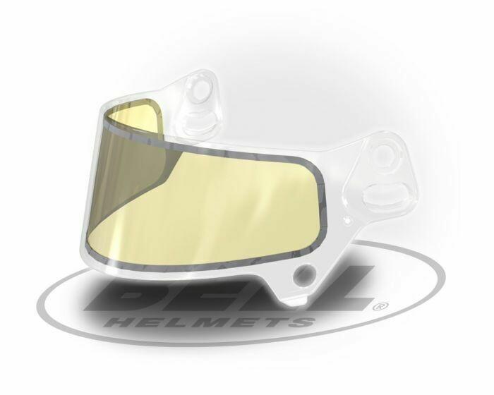Visiera Bell SE07 2mm trasparente con inserto giallo