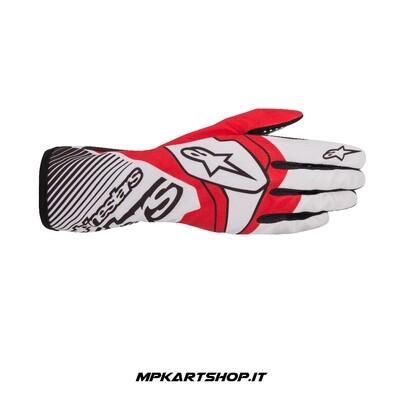 Guanti Alpinestars Tech-1 K RACE v2 Bianco/Rosso