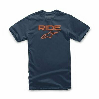 T-Shirt Alpinestars Ride 2.0 Tee Navy