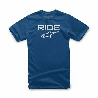 T-Shirt Alpinestars Ride 2.0 Tee Blu