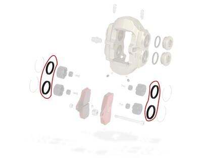 Guarnizione pinza freno anteriore KZ & posteriore Mini OTK