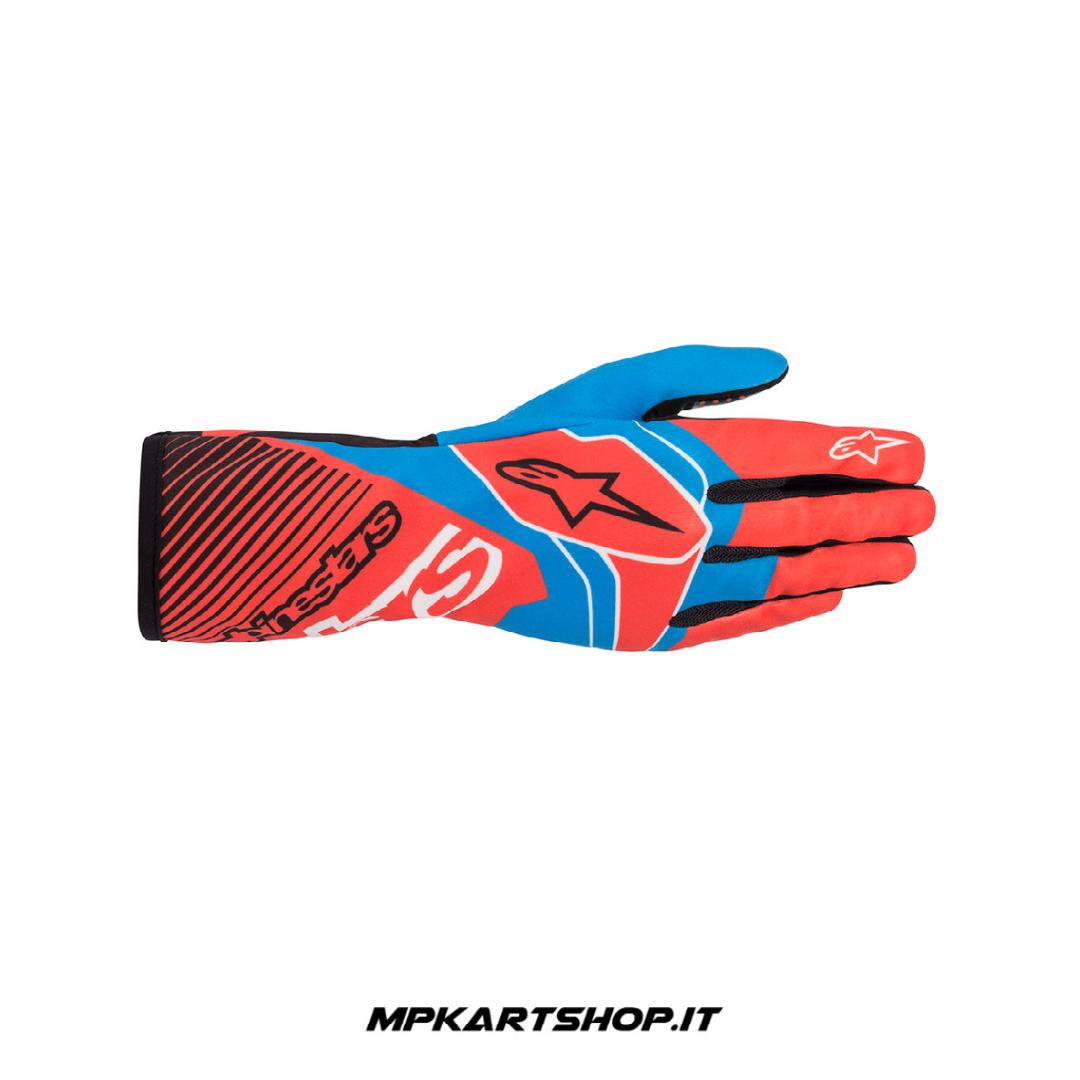 Guanti Alpinestars Tech-1 K Race V2 Arancio/Blu
