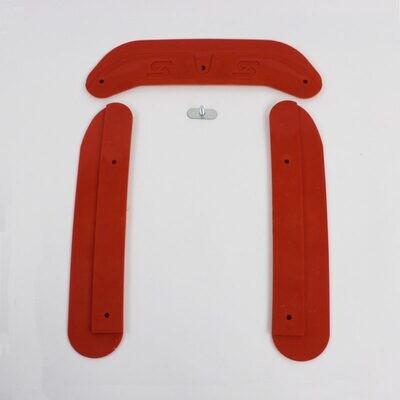 Kit protezione telaio New-Line rosso