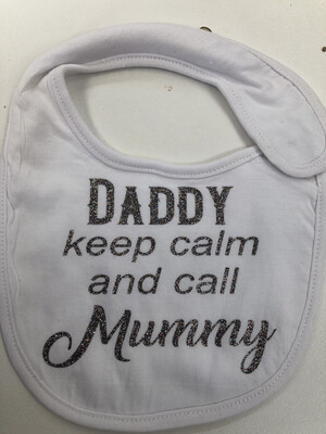 Daddy Keep Calm Baby bib