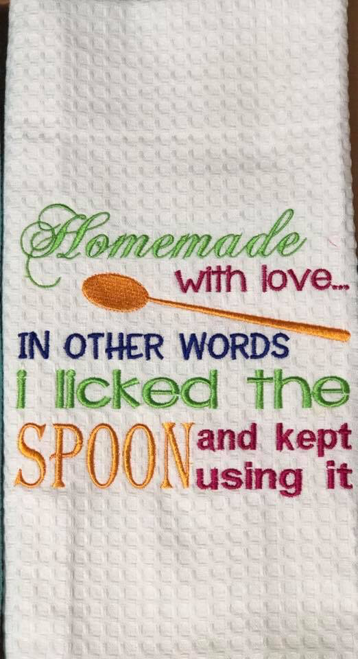 Homemade Is licking The Spoon