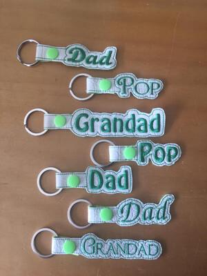 Dad, Pop, Grandad Keyring