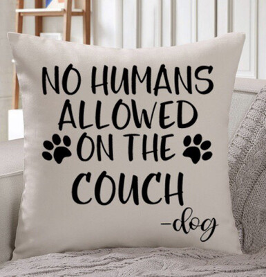 No Humans Allowed Throw Pillow