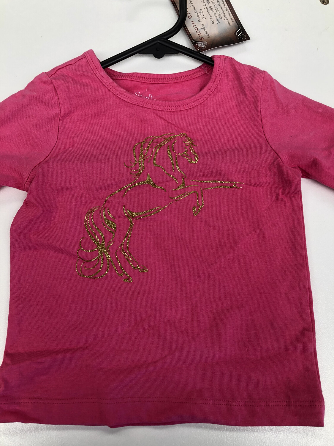 Girls Size 1 Long Sleeve Rearing Horse