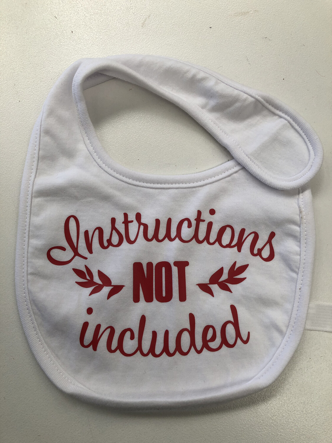 Instructions Not Included Baby bib