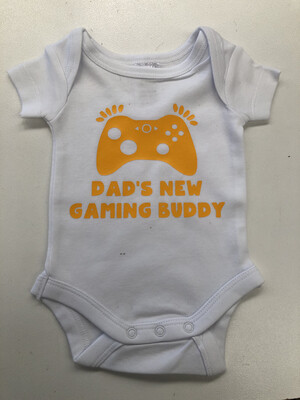 Daddy's New Gaming Buddy Baby Romper
