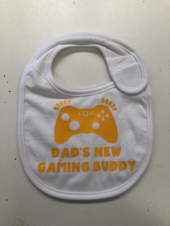 Dads New Gaming Buddy Baby bib