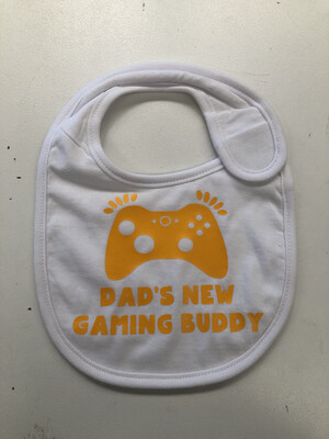 Dads New Gaming Buddy Baby bib