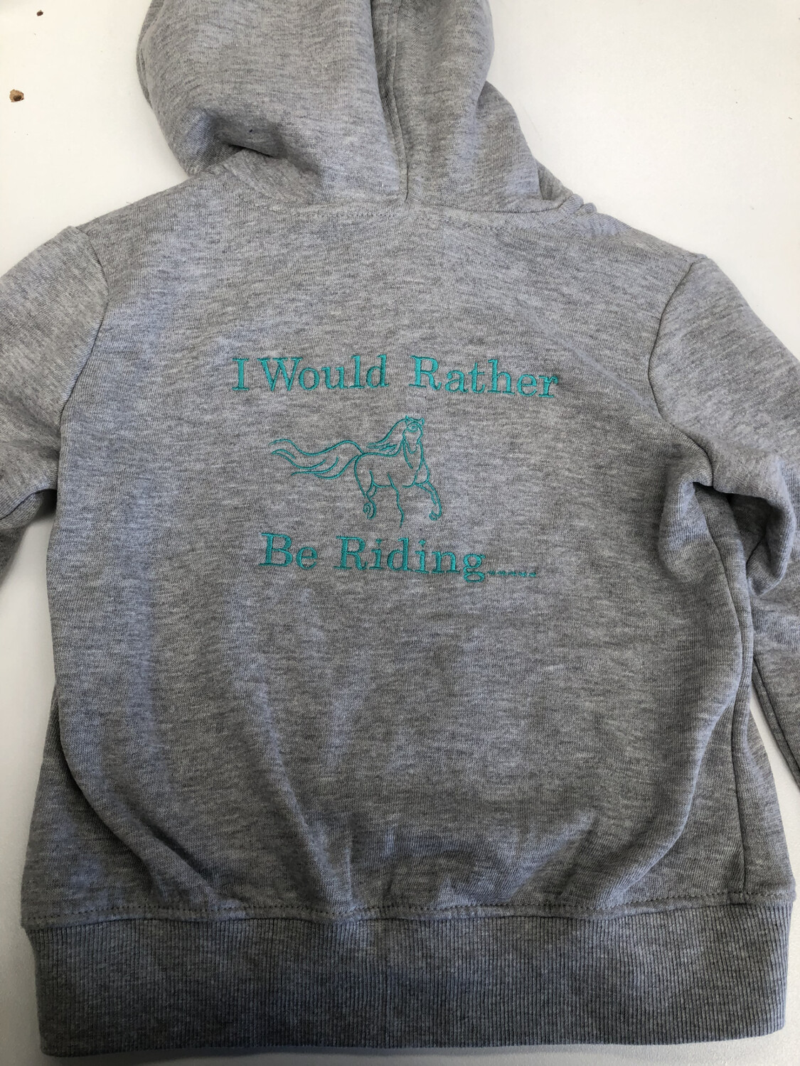 Girls Size 7 Hoodie Rather Be Riding