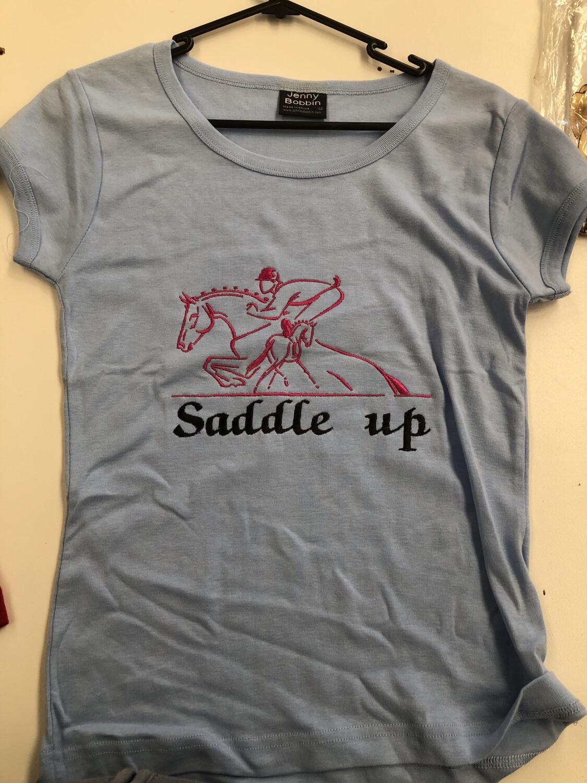 Ladies Size 12 T-shirt Saddle Up