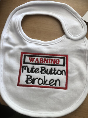 Mute Button Broke Bib