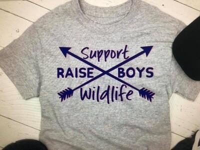 Support Wildlife, Raise Boys Shirt