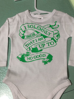 I Solemnly Swear I'm Up To No GoodBaby Romper