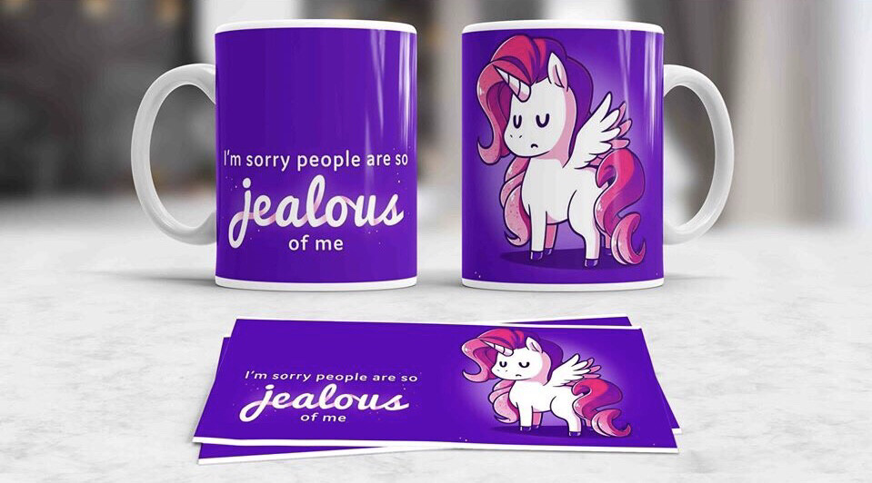 Jealous Unicorn Coffee mug