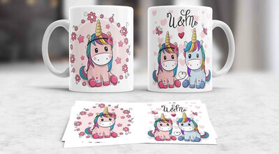 You & Me Unicorn Coffee mug