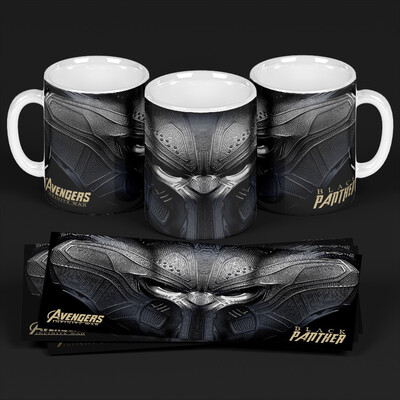 3D Black Panther Coffee mug