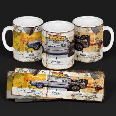 3D Back To The Future mug