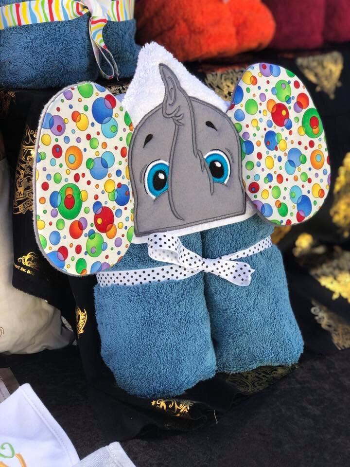 Elephant 3D Hooded Towel