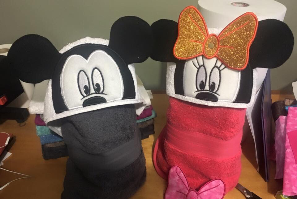3D Mouse Hooded Towel