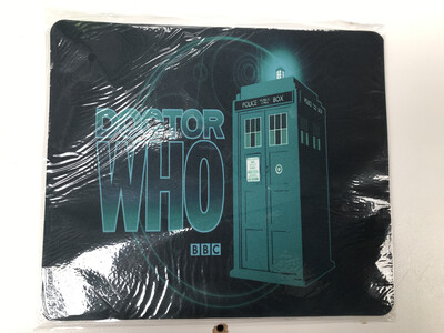 Dr Who Green Tardis Mouse Pad