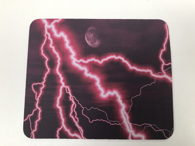 Pink Lightning Mouse Pad