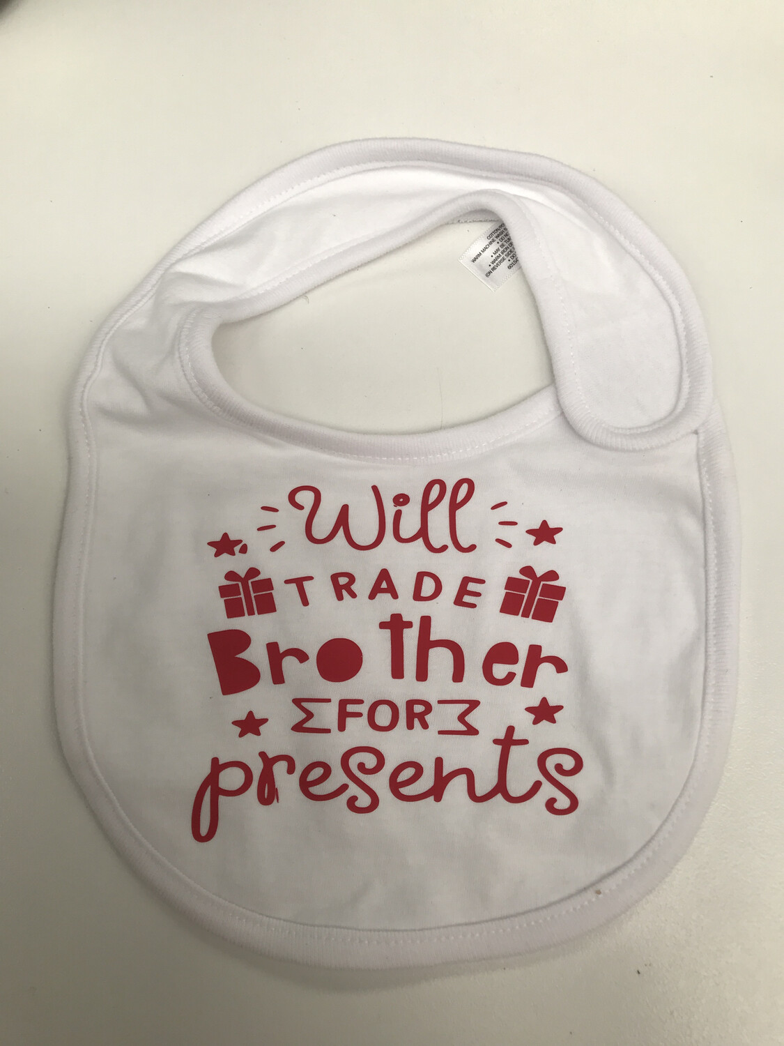 Will Trade For Presents  Baby bib