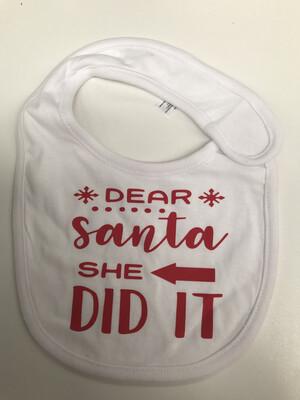 Dear Santa Baby bib