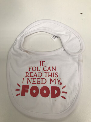 If You Can Read This Baby bib