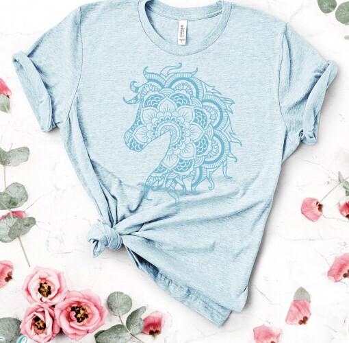 Horse Mandala T Shirt