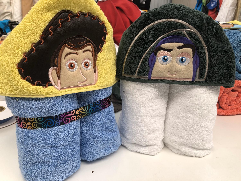 Cowboy Or Spaceman Hooded Towels