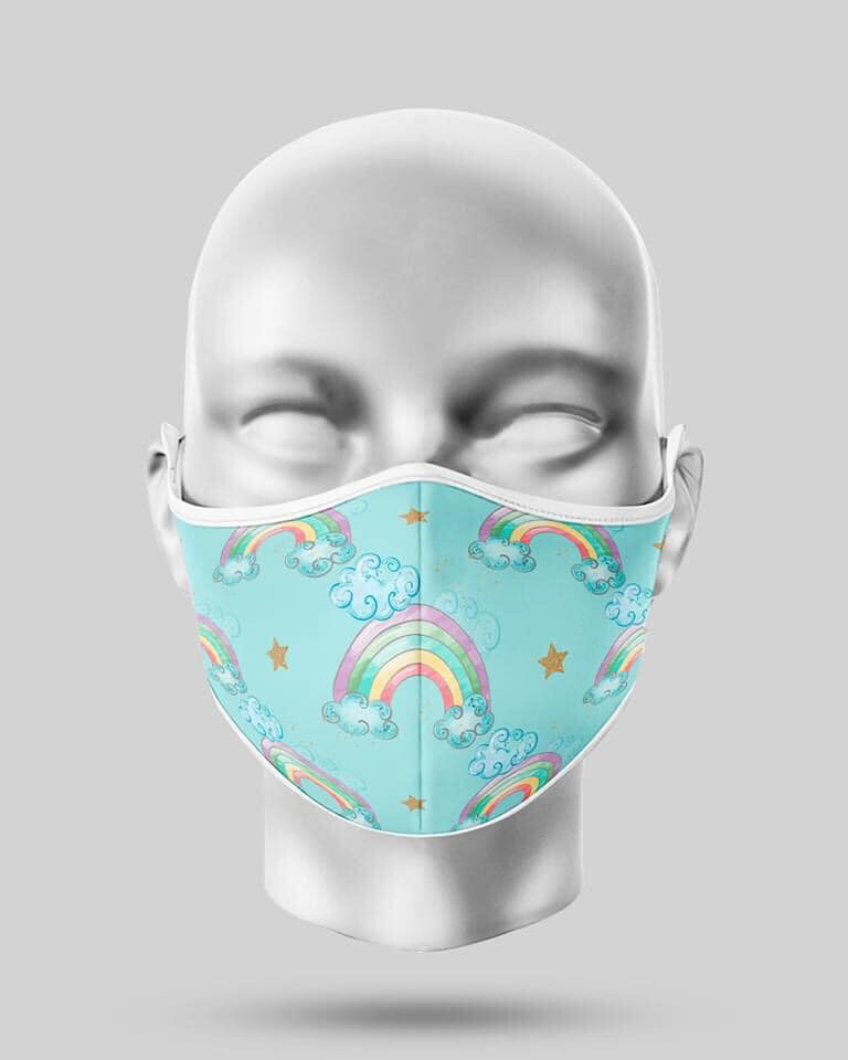 Blue Rainbows Mask