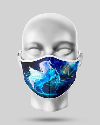 Blue Unicorn Mask