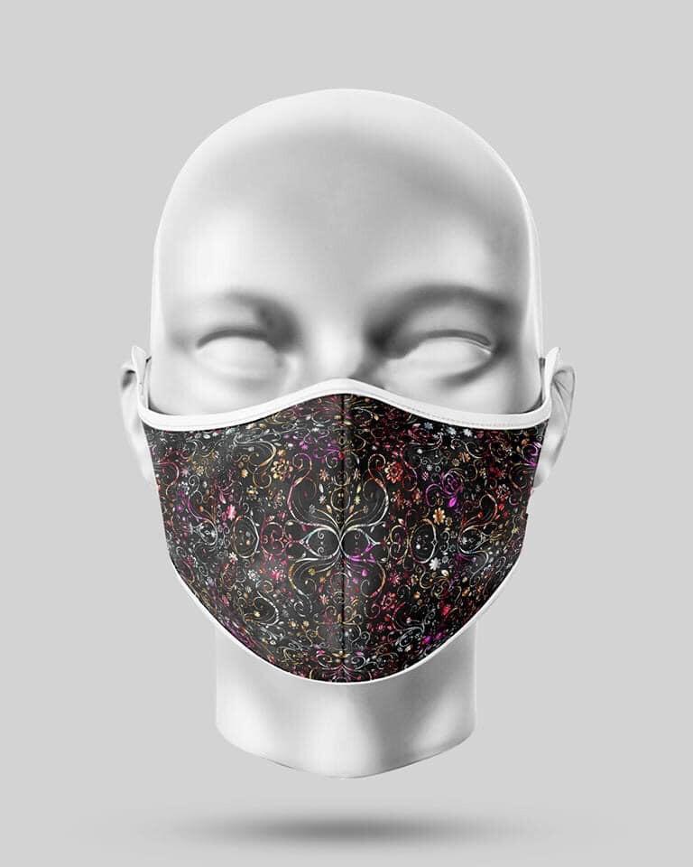 Black Flowers Mask
