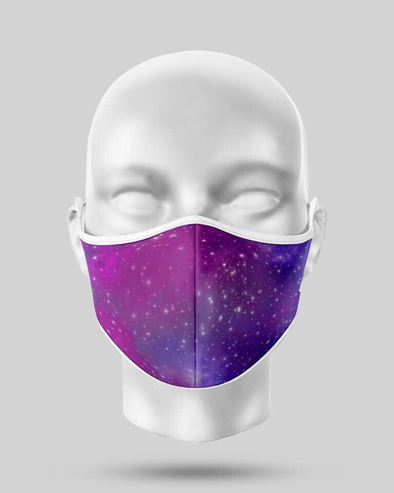 Purple Galaxy Mask