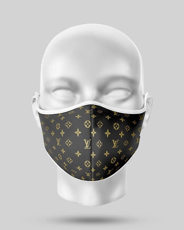 Chocolate Gold LV Mask