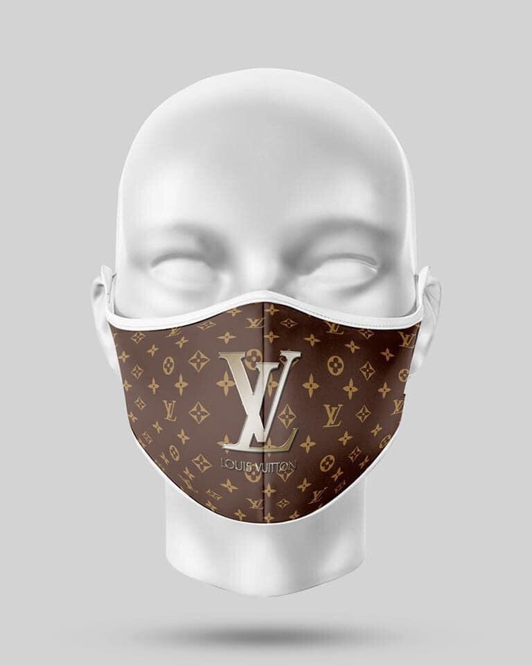 Chocolate Large Logo LV Mask