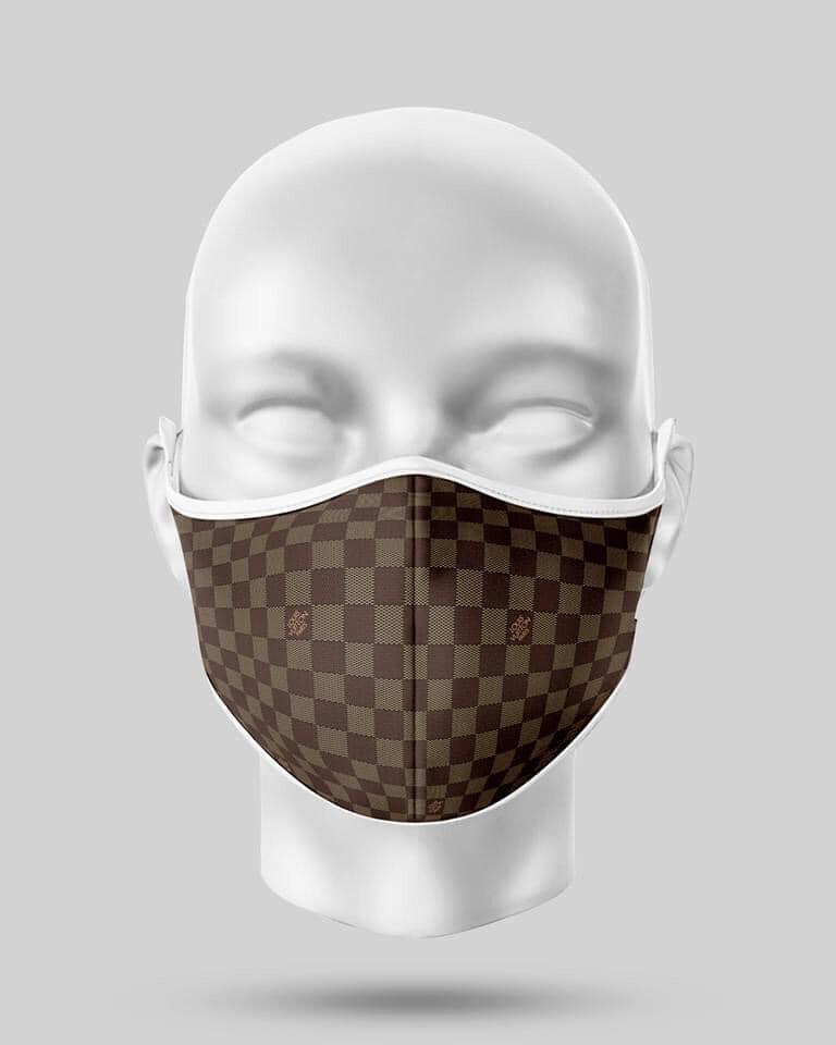 Brown Check LV Mask
