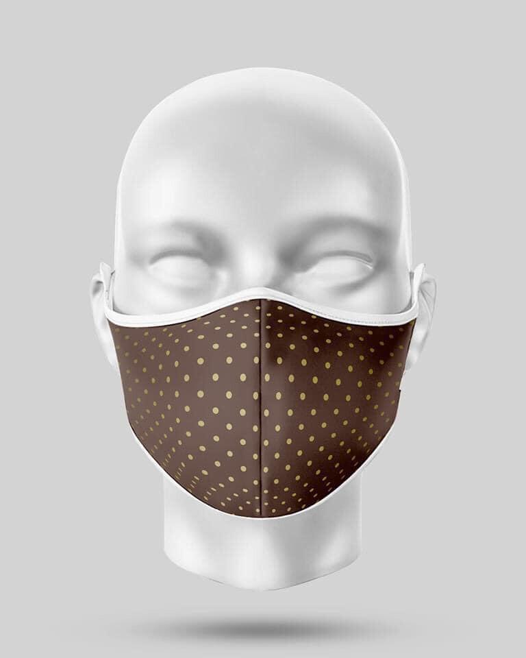 Brown Polka Dots Mask