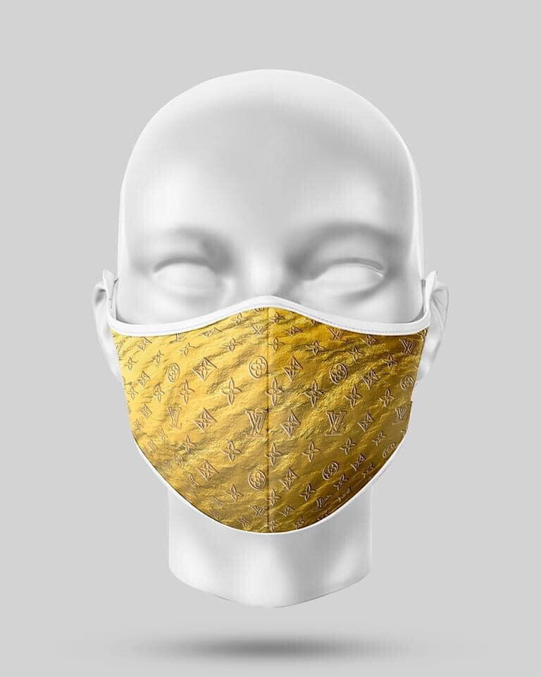 Gold LV Mask