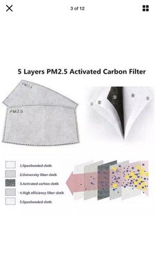 PM24 Filters For Face Masks