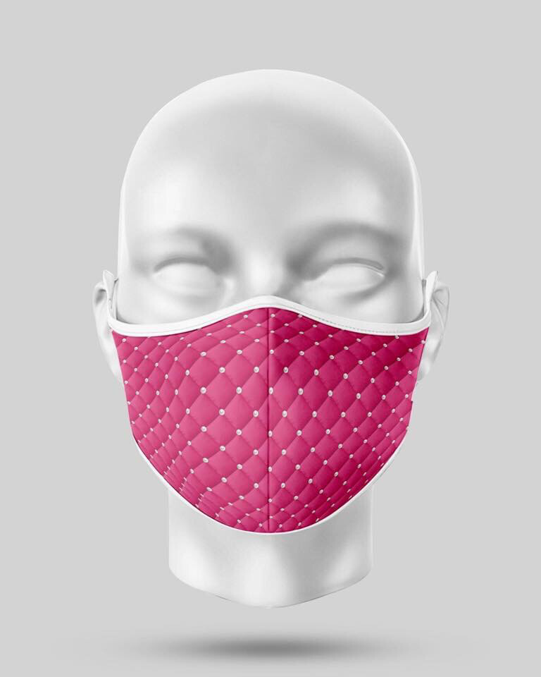 Hot Pink Pearl Mask