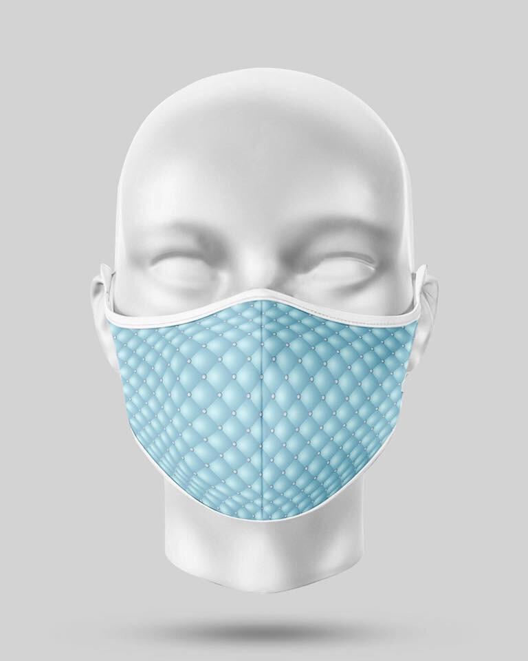 Aqua Blue Pearl Mask