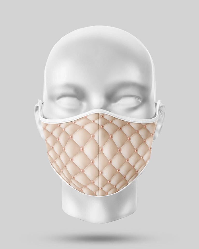 Cream Pearl Mask