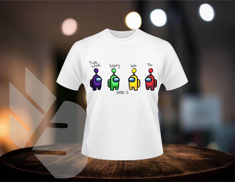 Among Us Teletubbies Style Shirts