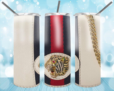 Tiger Leather Look Tumbler