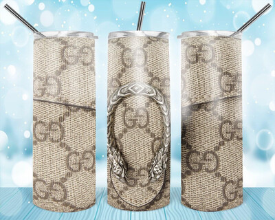 Grey Snakeskin Look Tumbler